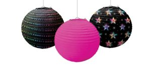 Disco 70s Paper Lanterns 3ct