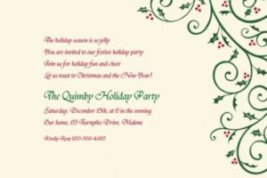 Custom Delicate Holly Scroll Invitations