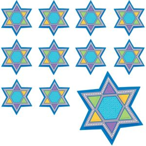 Star of David Cutouts 12in 12ct