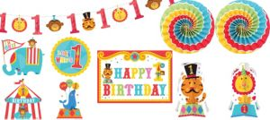 Fisher-Price 1st Birthday Circus Room Decorating Kit 10pc