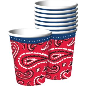 Bandana & Blue Jeans Cups 8ct