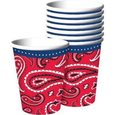 Bandana & Blue Jeans Cups 8ct