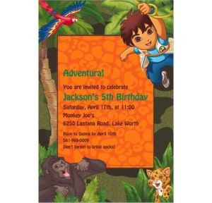 Custom Diego's Biggest Rescue Invitations