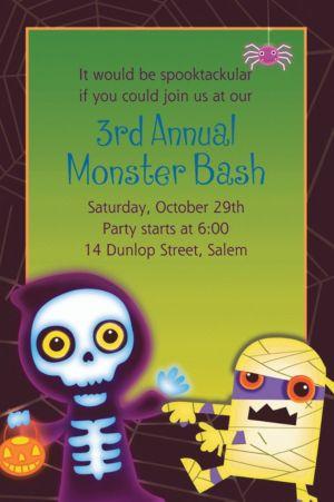 Custom Boo Crew Halloween Invitations