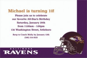 Custom Baltimore Ravens Invitations