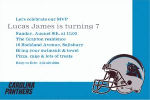 Custom Carolina Panthers Invitations