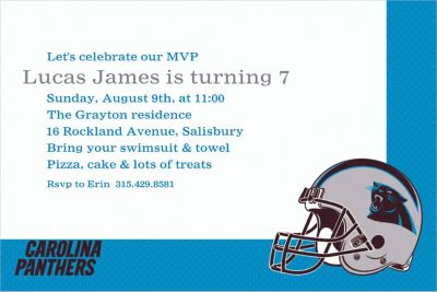 Carolina Panthers Custom Invitation
