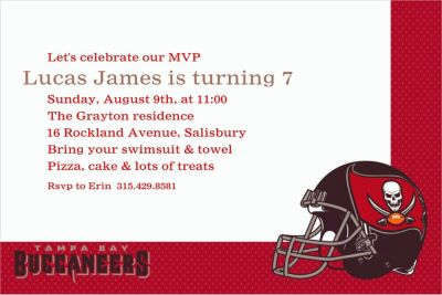 Custom Tampa Bay Buccaneers Invitations