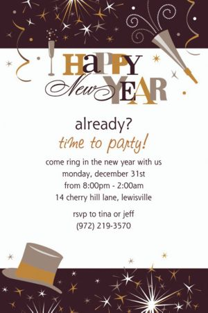 Custom Elegant Celebration New Year's Invitations