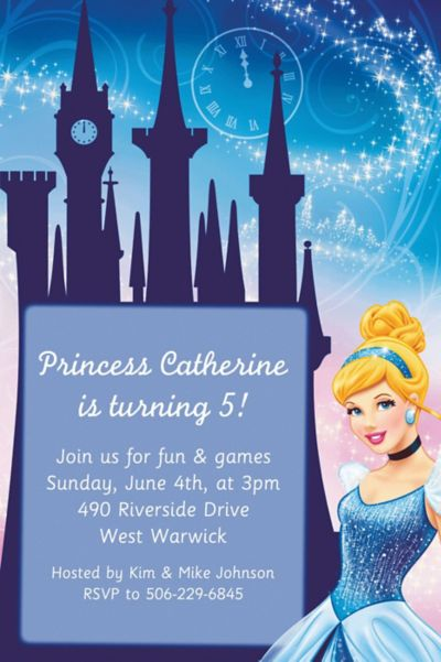 Custom Cinderella Invitations