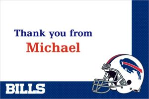 Custom Buffalo Bills Thank You Notes