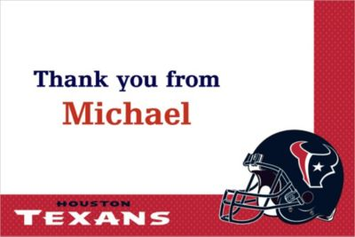 Custom Houston Texans Thank You Notes