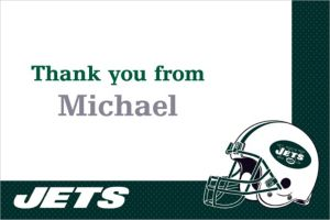 Custom New York Jets Thank You Notes