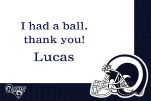 Custom Los Angeles Rams Thank You Notes