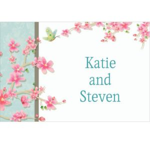 Custom Cherry Blossom Love Wedding Thank You Notes