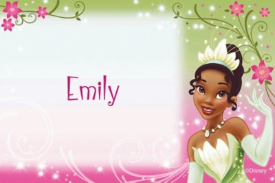 Custom Princess and the Frog Tiana Thank You Notes