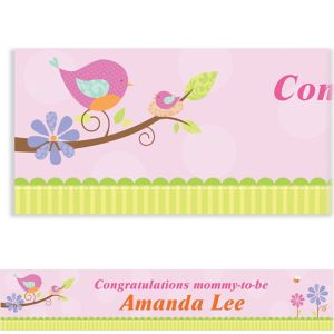 Custom Tweet Baby Girl Baby Shower Banner 6ft