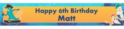 Phineas & Ferb Custom Banner 6ft