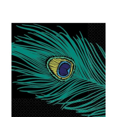Peacock Lunch Napkins 16ct