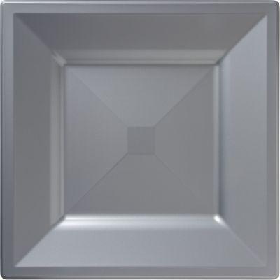 Silver Premium Plastic Square Dinner Plates 10ct