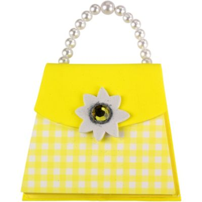 Yellow Gingham Handbag Notepad