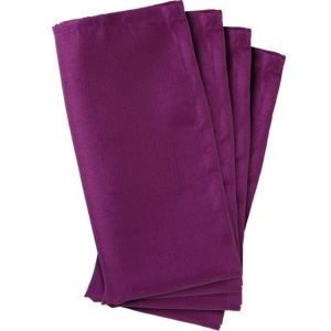 Plum Fabric Napkins 4ct