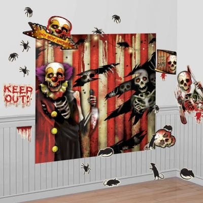 Creepy Carnival Wall Decorations 32pc