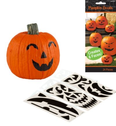 Pumpkin Decals 24ct