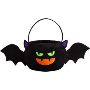 Plush Bat Treat Bucket