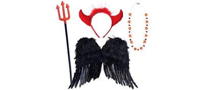 Adult Valentines Sexy Devil Partysuit Accessories Set