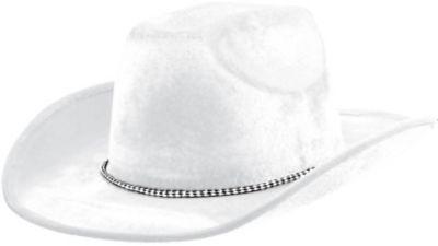 White Suede Cowboy Hat