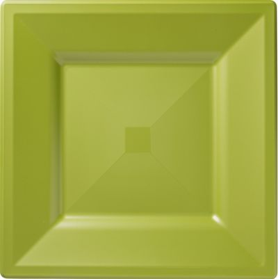 Avocado Premium Plastic Square Dinner Plates 10ct