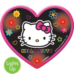 Light-Up Neon Hello Kitty Button