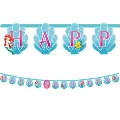 Little Mermaid Letter Banner 10 1/2ft