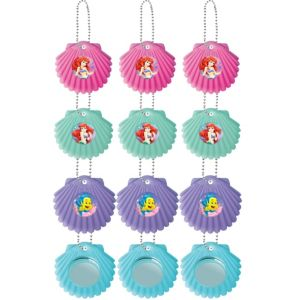 Little Mermaid Shell Mirror Key Chains 12ct