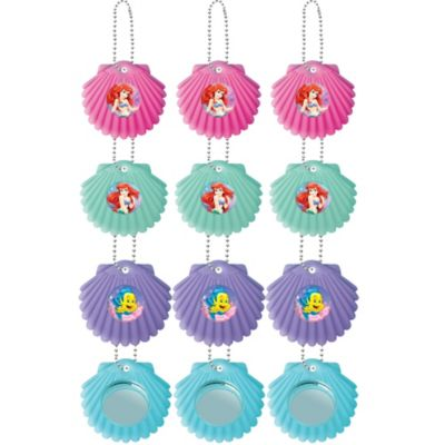 Little Mermaid Shell Mirror Key Chains 12ct
