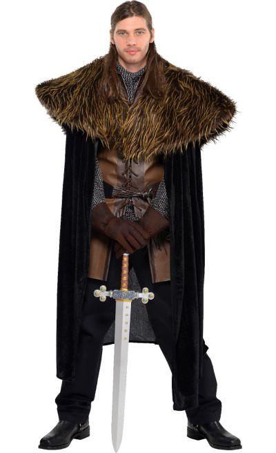 Adult Medieval Furry Shoulder Cape
