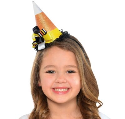 Child Candy Corn Fairy Hat Headband