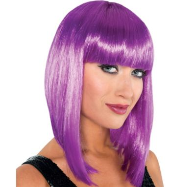 Purple Swing Bob Wig