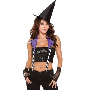Witchy Way Purple Halter Suspenders