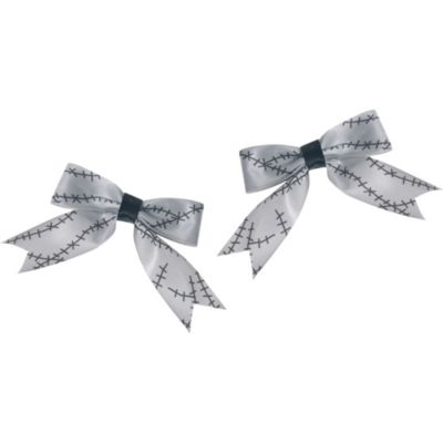 Zombie Stitched Hair Bows 2ct
