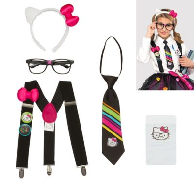 Hello Kitty Nerd Accessory Kit For Tween Girls Party City