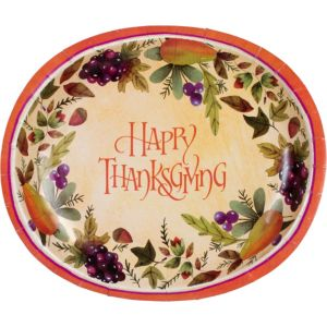 Thanksgiving Paper Platters 8ct