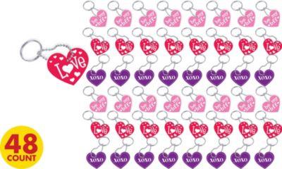 Conversation Heart Valentine's Day Key Chains 48ct
