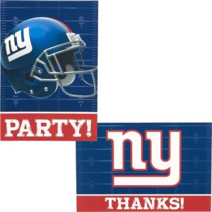 New York Giants Invitations & Thank You Notes For 8