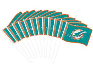Miami Dolphins Flags 12ct