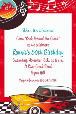 Custom Classic '50s Invitations