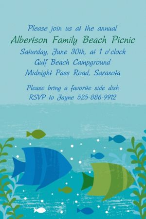 Custom Cool Sea Invitations