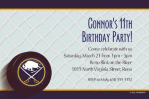 Custom Buffalo Sabres Invitations