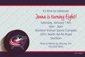 Custom Columbus Blue Jackets Invitations